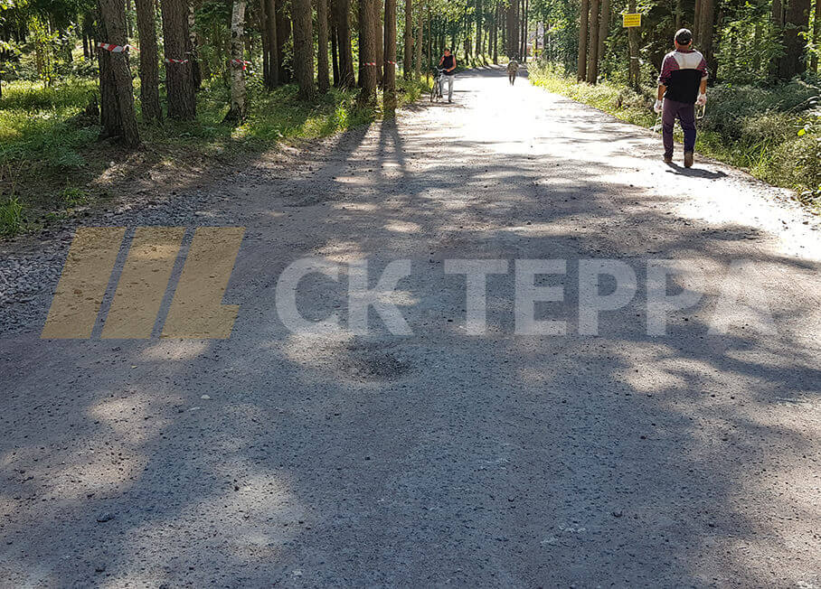 Асфальтирование дороги в ДНП Солнечное, 1й этап. 1
