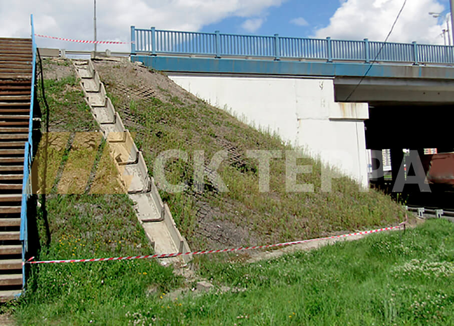 Укрепление откосов Киевское шоссе 1